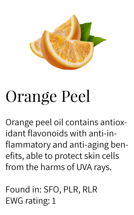 Orange peel oil, antioxidant, flavonoids, anti-inflammatory, skin protecting