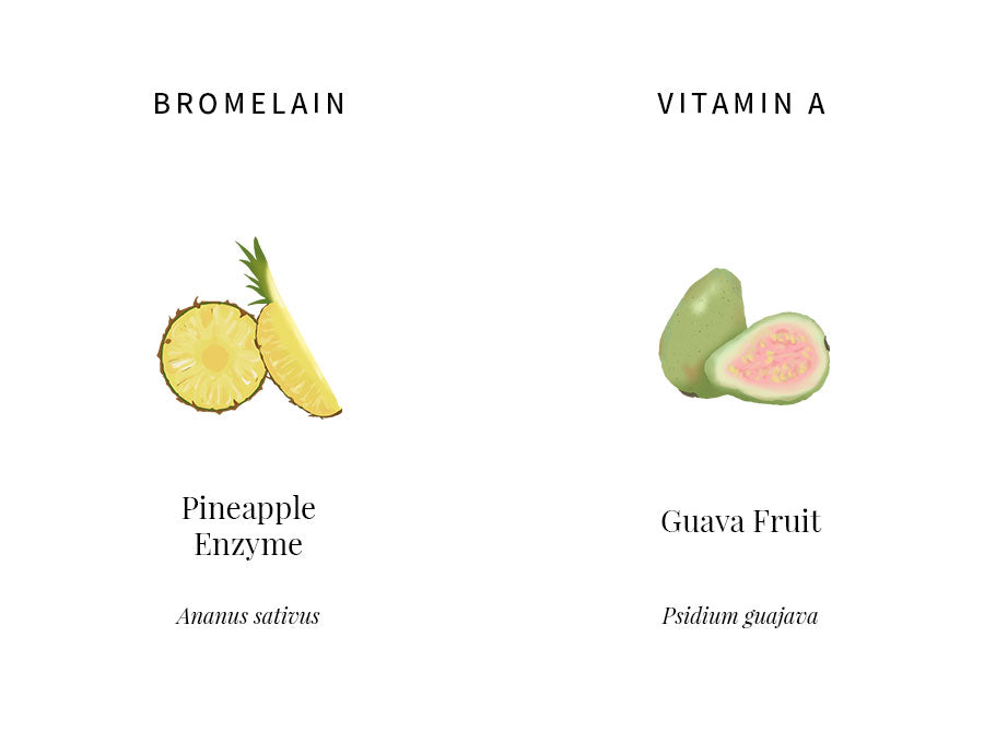akar, skin, bromelain, vitamin a, pineapple, guava, enzyme, fruit
