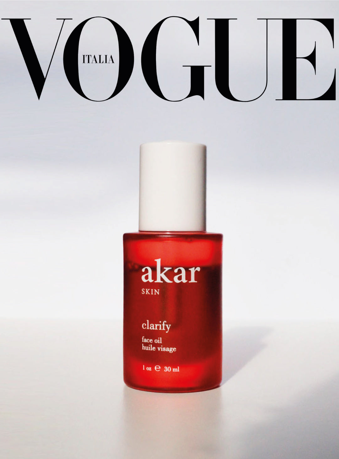 Vogue, italia, clarify, face oil, akar skin
