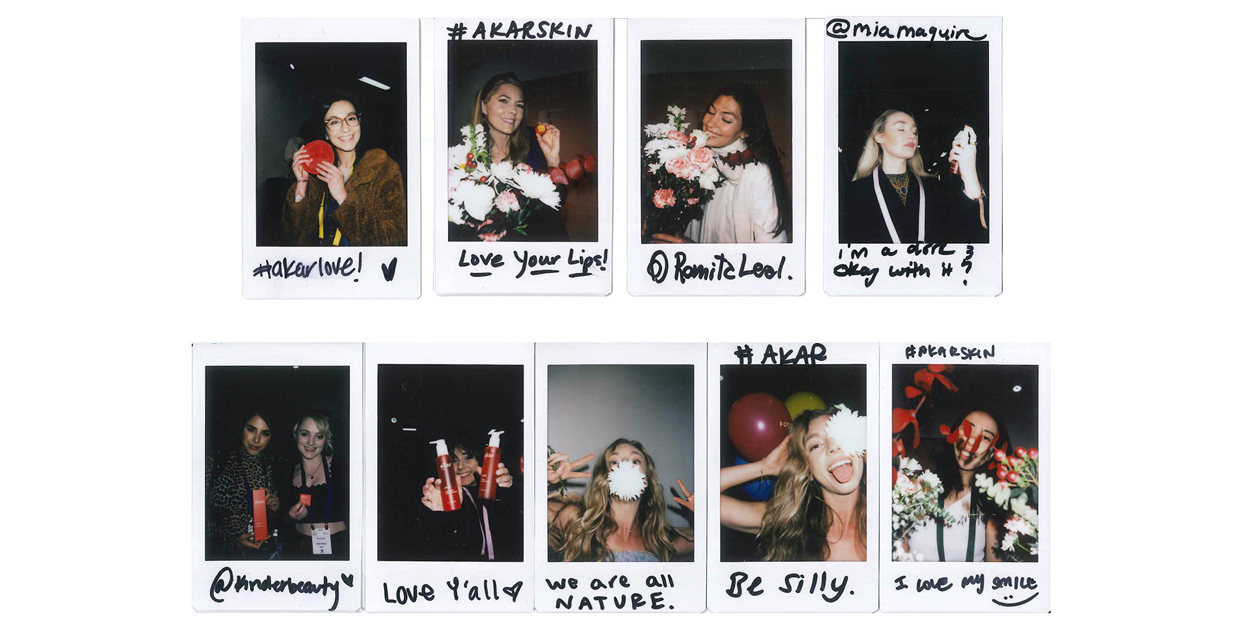 akar skin, polaroid, giveaway, selfies, flowers