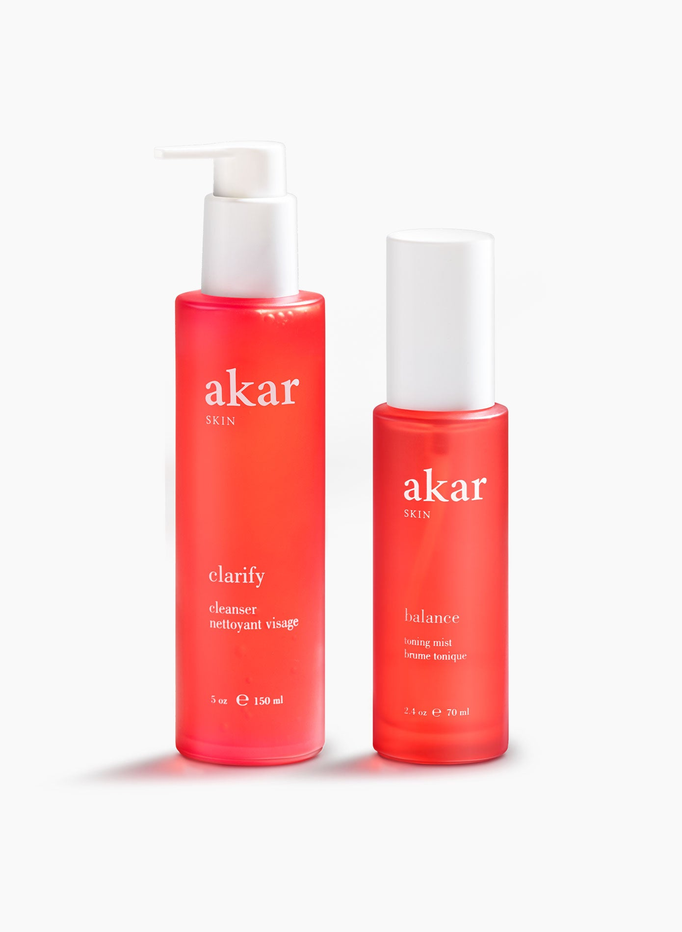 Akar Skin, Balance Toner, Clarify Cleanser, Valentines, oily, acne, combination skin, acne-prone, maskne, bundle, discount, set, clean beauty