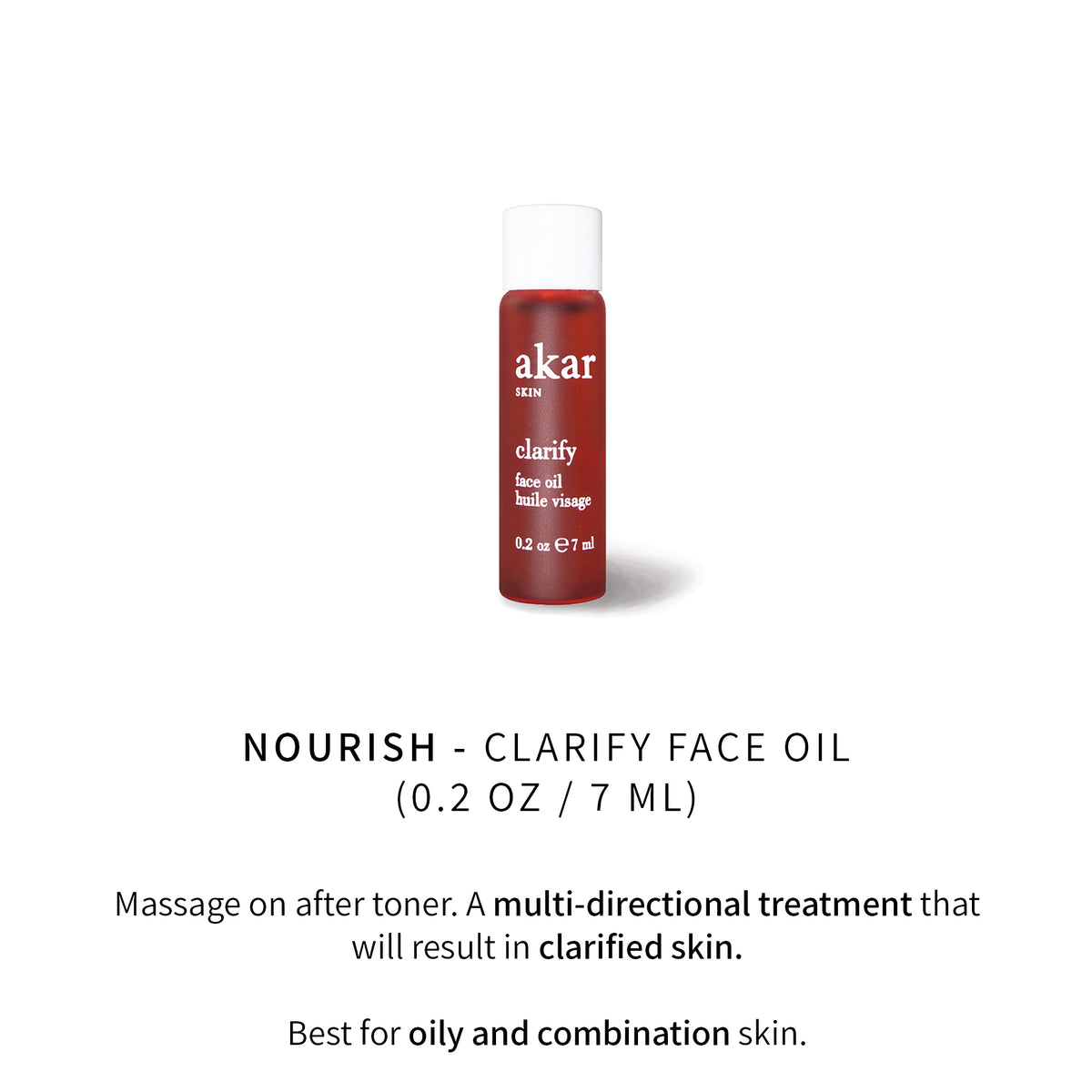 clarify, face oil, akar skin, nourish, mini, travel