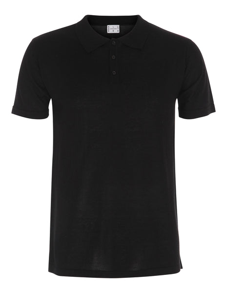 Knitted Silk & Cashmere Polo