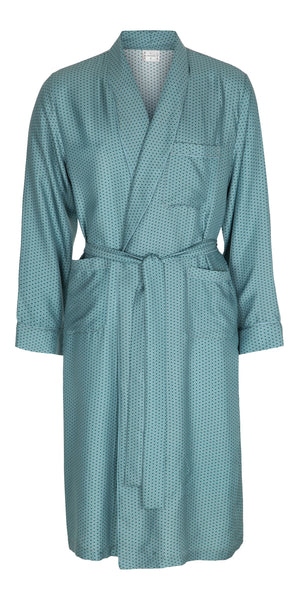 Light Blue Wave Silk Dressing Gown