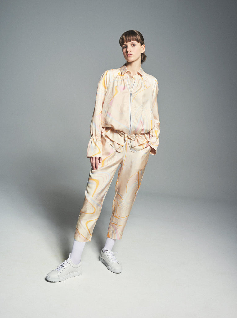 Yellow Psychedelic Womens Trousers - All At Sea Cph