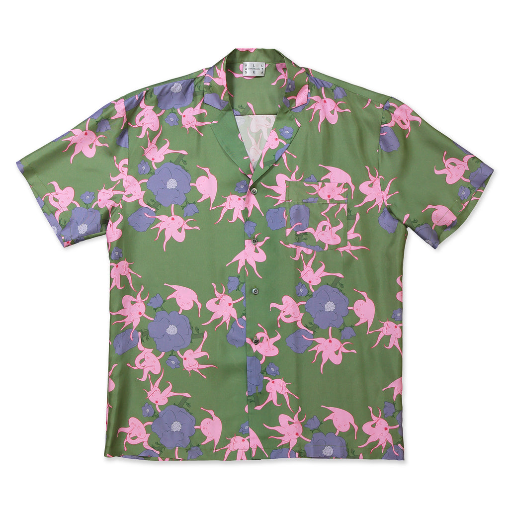 Green & Pink Rosehip Cuban Shirt - All At Sea Cph