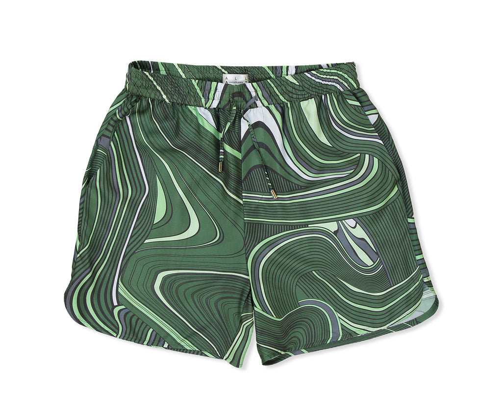 Green Psychedelic Sport Shorts - All At Sea Cph