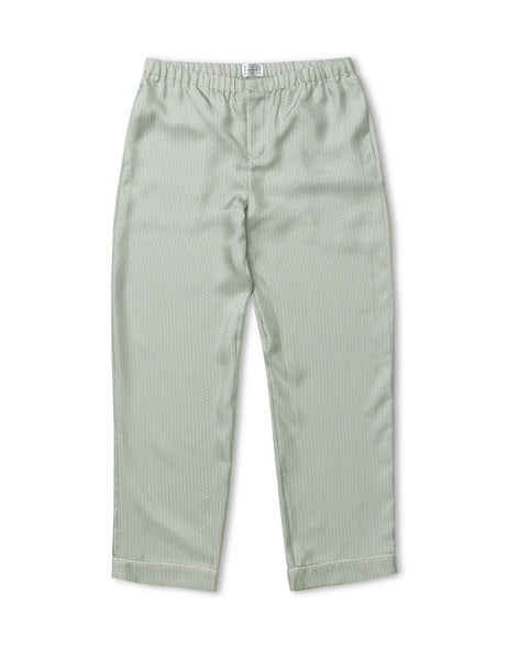 Sky Light Wave Silk Pyjama Trousers - All At Sea Cph