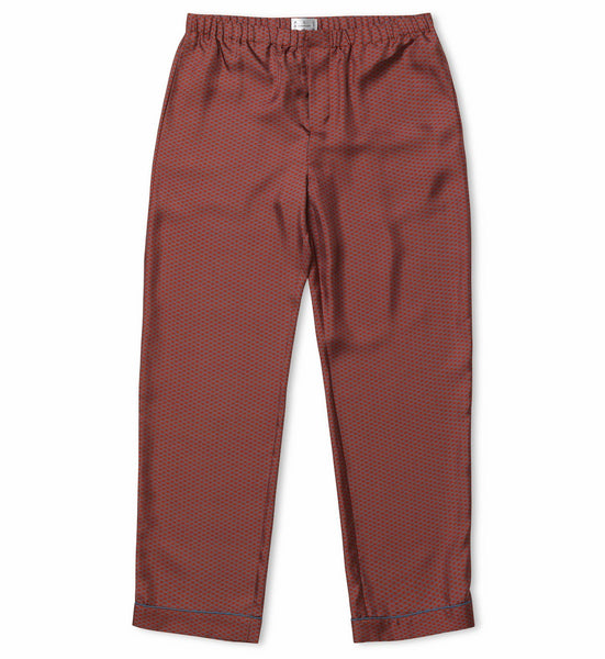 Burnt Wave Silk Pyjama Trousers
