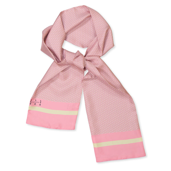 Pink Wave Silk Scarf