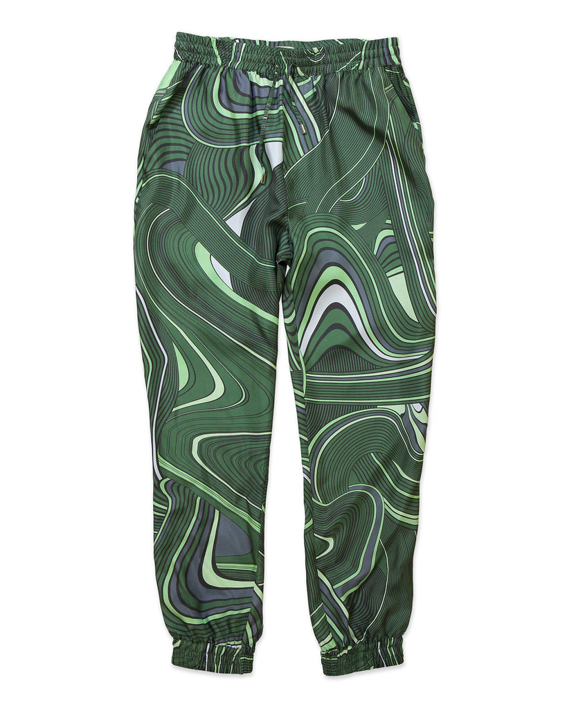 Green Psychedelic Tracksuit Trousers - All At Sea Cph