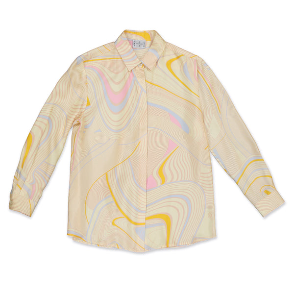 Yellow Psychedelic Womens Shirt - All At Sea Cph