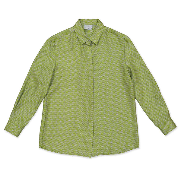 Green & Yellow Wave Womens Shirt - All At Sea Cph
