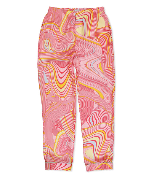 Pink Psychedelic Pyjama Trousers - All At Sea Cph