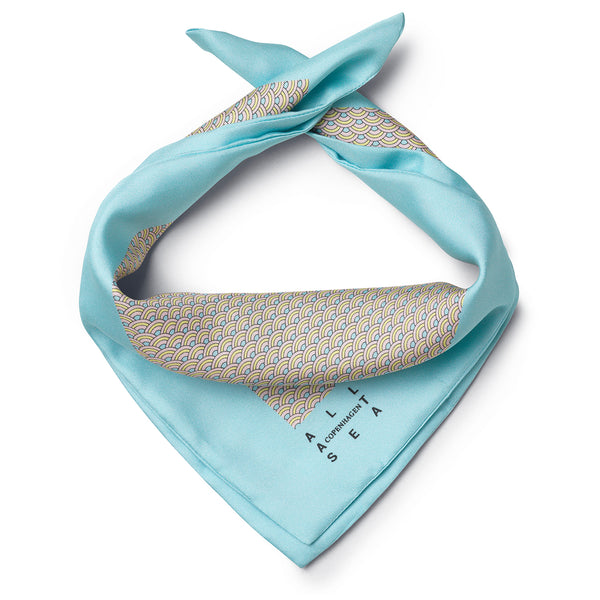Candy Wave Silk Neckerchief - All At Sea Cph