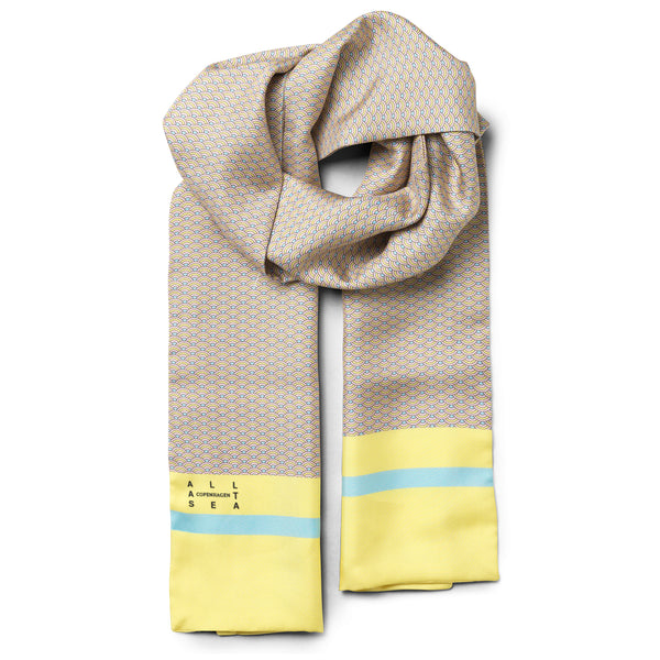 Candy Wave Silk Long Scarf - All At Sea Cph