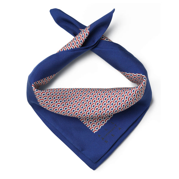French Wave Silk Neckerchief - All At Sea Cph