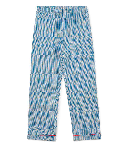 Classic Blue Wave Pyjama Trousers - All At Sea Cph