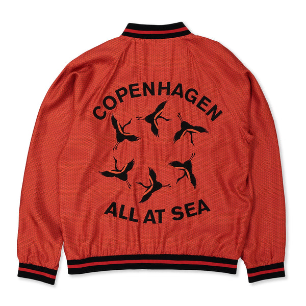 Red Armor Silk Bomber Jacket - All At Sea Cph