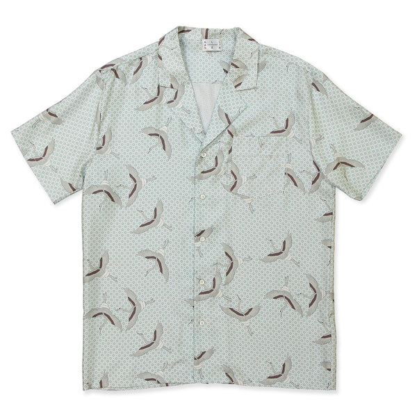 Grey Bird Square Cuban Shirt