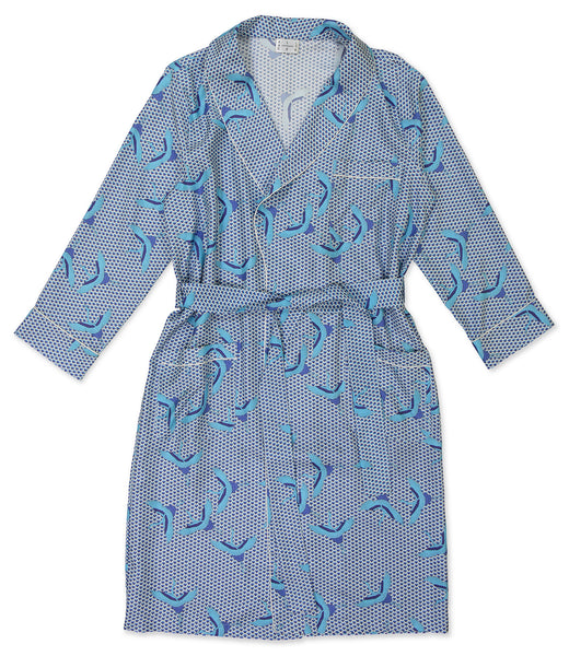 Blue Bird Wave Dressing Gown - All At Sea Cph