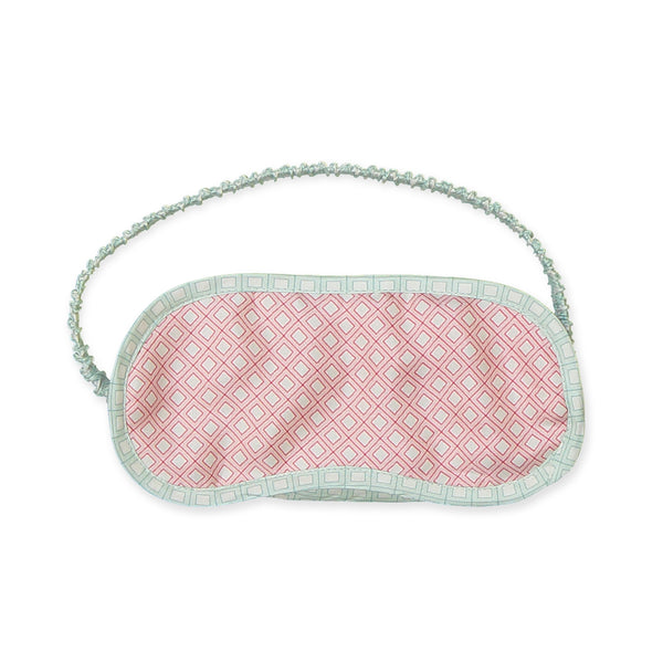 Color Block Pink & Mint Square Eye Mask