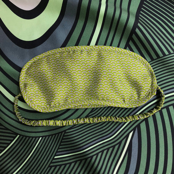Green & Yellow Silk Eye Mask - All At Sea Cph