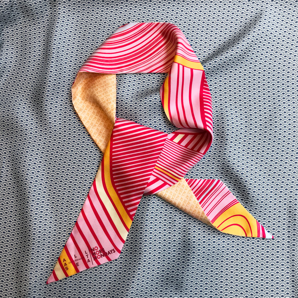 Pink Silk Bandeau Scarf - All At Sea Cph