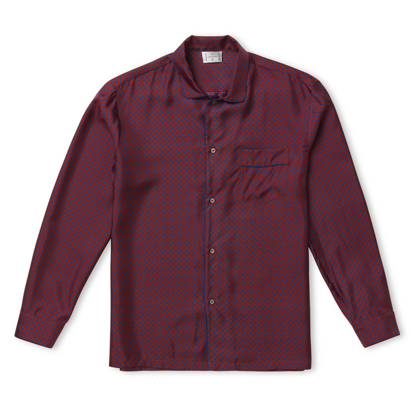 Gentleman Square Silk Pyjamas Shirt - All At Sea Cph