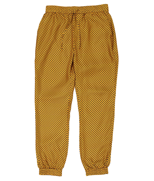 Leopard Square Silk Tracksuit Trousers - All At Sea Cph