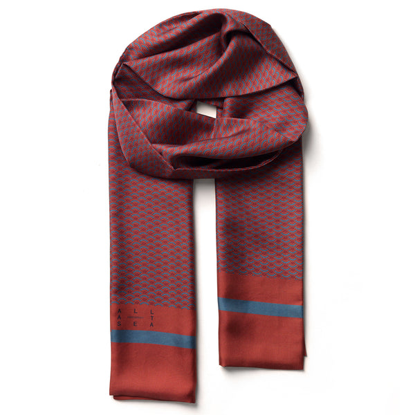 Burnt Wave Silk Long Scarf - All At Sea Cph