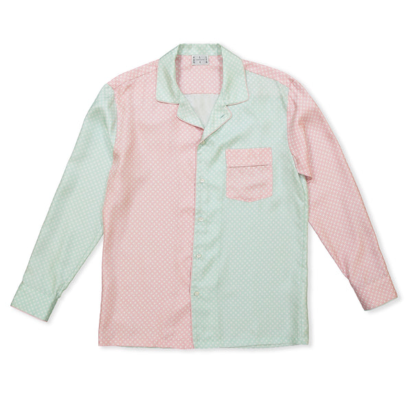 Color Block Pink & Mint Square Pyjama Shirt