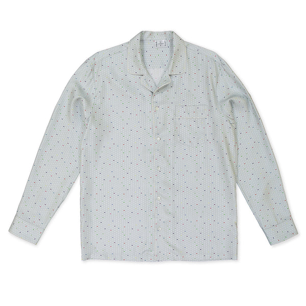 Multi Color Wave Silk Pyjama Shirt - All At Sea Cph