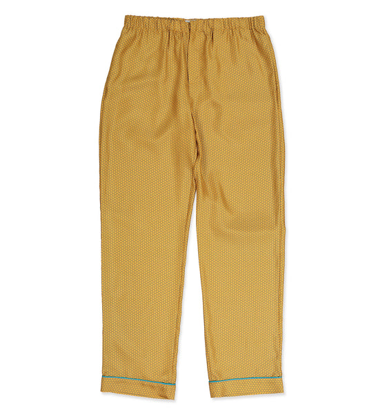 Gold Armor Silk Pyjama Trousers - All At Sea Cph