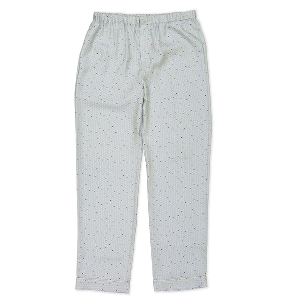 Multi Color Wave Silk Pyjama Trousers - All At Sea Cph
