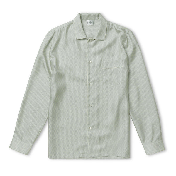 Sky Light Wave Silk Pyjama Shirt
