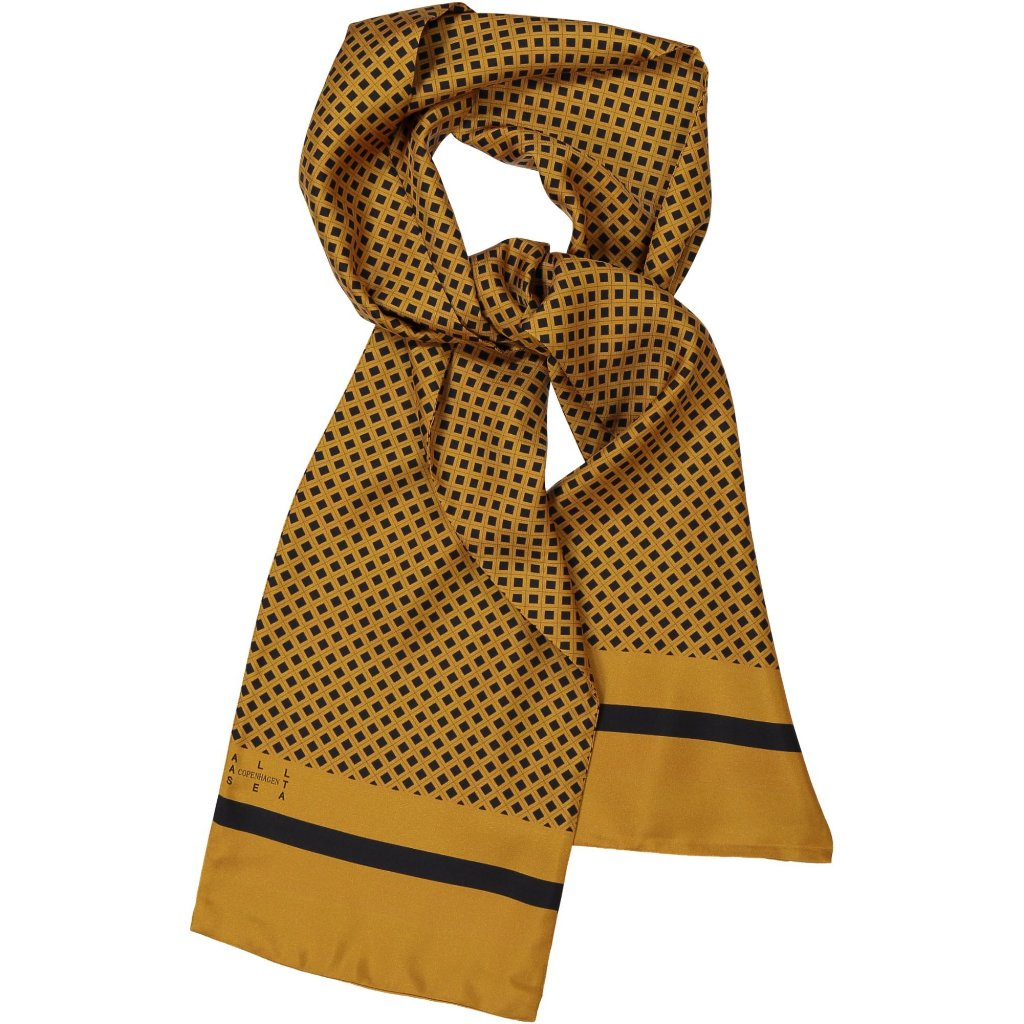 Leopard Square Silk Long Scarf