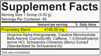 How To Read A Label: Proprietary Blend