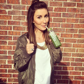 Thumbs up to drinking your greens!