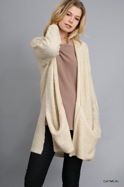 Oatmeal Oversized Cardigan