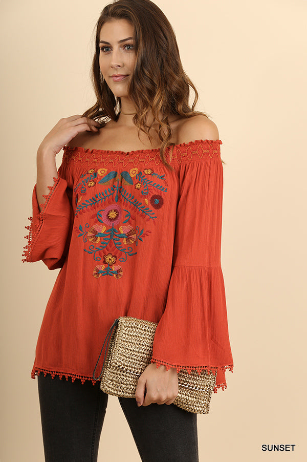 Sunset Embroidered Blouse