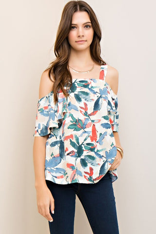 Water Color Print Blouse