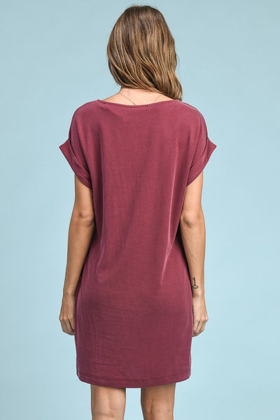 Wine T-Shirt Dress