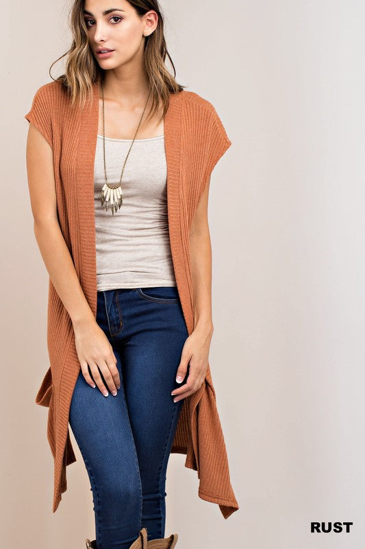Rust Sweater Cardigan