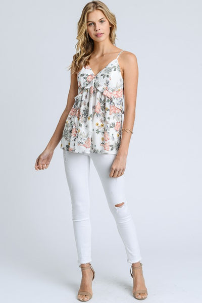 Ruffle Floral Tank