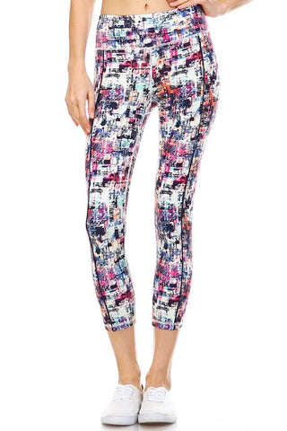 Wild Card Print Leggings