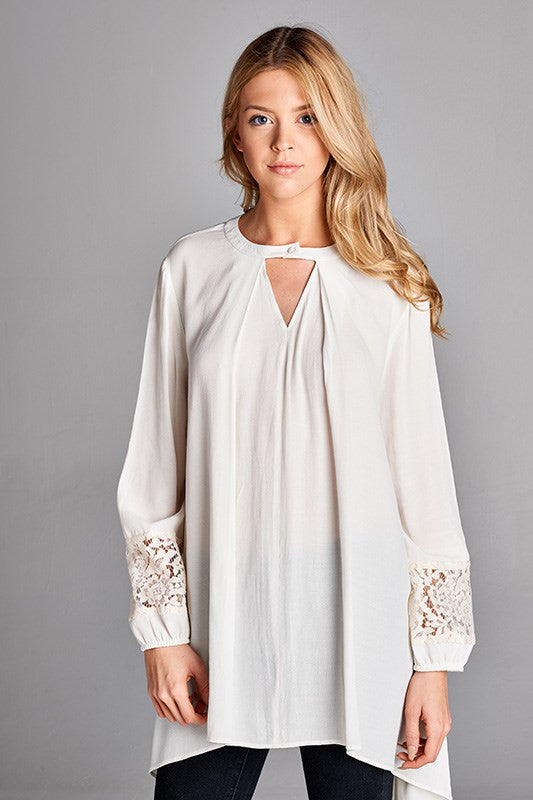 Lace Detail Sleeve Tunic