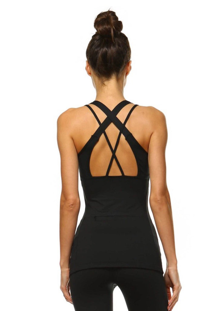 Black Active Cami