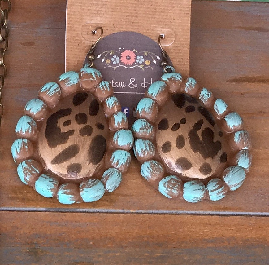 Cheetah Clay Earrings