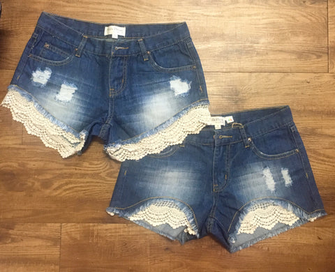 Full Lace Denim Short
